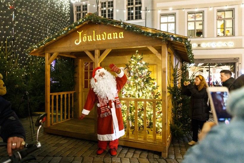 KOROONAAJA LAHENDUS: Raekoja platsil saab kohtuda hologramm-jõuluvanaga