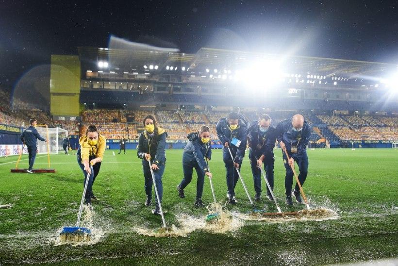 VIDEO | Euroopa Liiga: Villarreali töötajad tegid üleujutatud staadioniga imet, Kane jõudis uhke tähiseni
