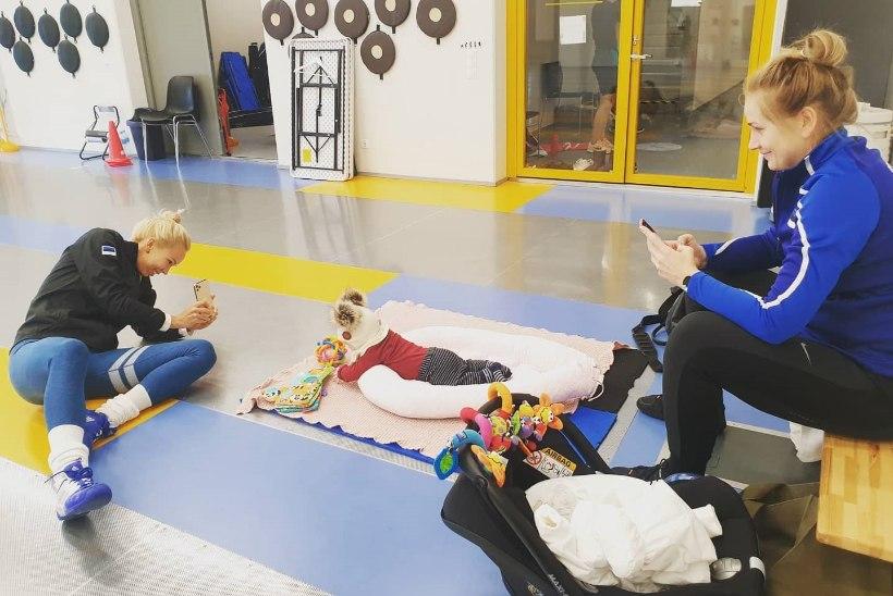 NUNNU PILT | Eesti tippvehklejad treenisid ja kantseldasid Kristina Kuuse last
