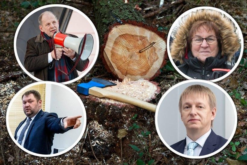 MINISTER KOKA OOTAMATU LAHKUMISE TAGAMAAD: metsasõjas loobivad palke ka EKRE liikmed
