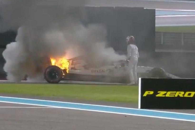 VIDEO   Räikköneni vormel süttis vabatreeningul põlema