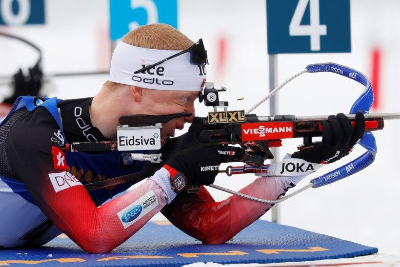 Kontiolahti meeste sprindis võidutses Norra vanameister, Ermits jäi taas napilt punktikohalt välja