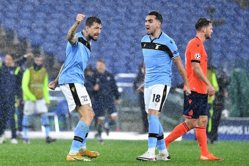 Rooma Lazio pääses üle noatera meistrite liiga play-off'i