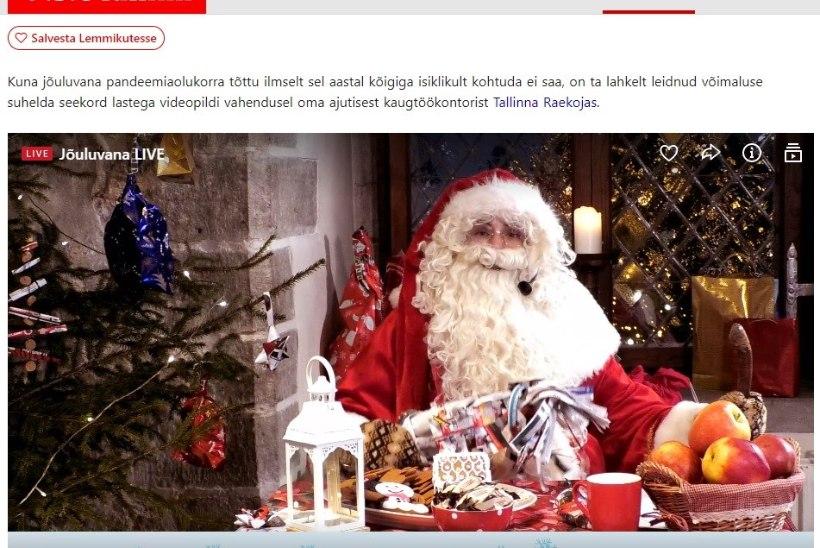 ÕL VIDEO JA FOTOD | Jõuluvana suhtleb lastega tänavu arvuti vahendusel: kuigi koju minna ei saa, ei tohi jõulurõõmu ära kaotada