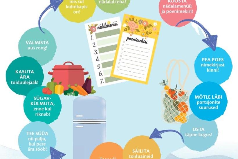 STOPP ÜLETARBIMISELE! Põhjalik õpetus, kuidas võimalikult vähe toitu ära visata