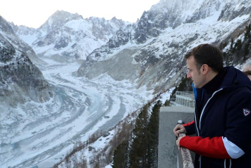 Macron vannub, et kaitseb Mont Blanci turistihordide eest