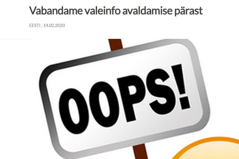 EKRE uudisteportaal vabandas lõpuks valeinfo avaldamise pärast