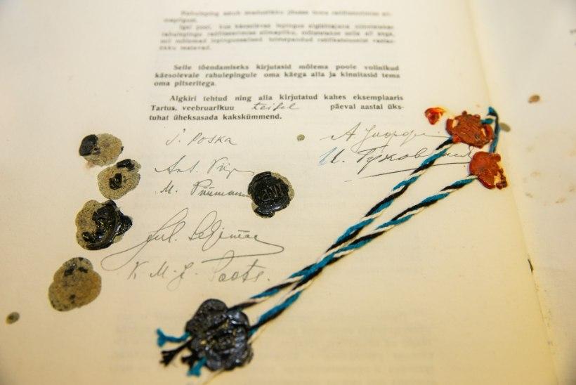 Riigikogu lõi Tartu rahule toetusrühma