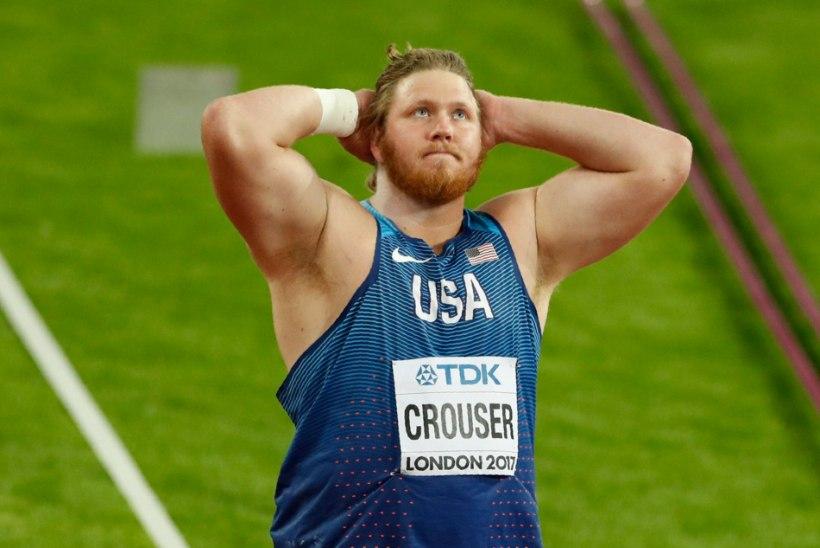 VÄGEV TULEMUS: Ryan Crouseril jäi kuulitõuke maailmarekordist napilt vajaka