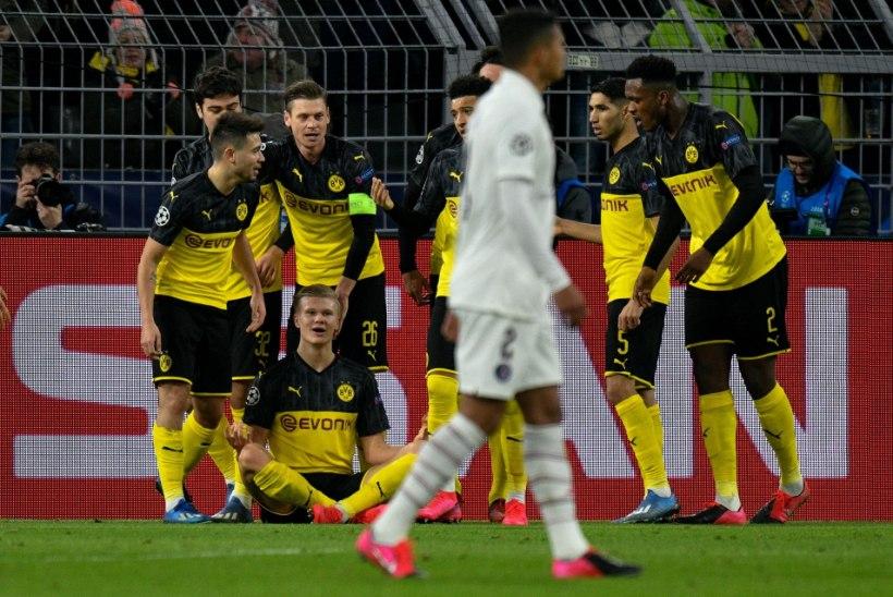 VÄGEV JALGPALLIÕHTU! Atletico seljatas Liverpooli, Dortmund alistas Haalandi väravate toel PSG