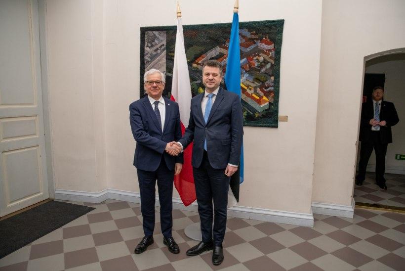 Eesti ja Poola välisministrid mõistsid hukka Venemaa katsed ajalugu võltsida