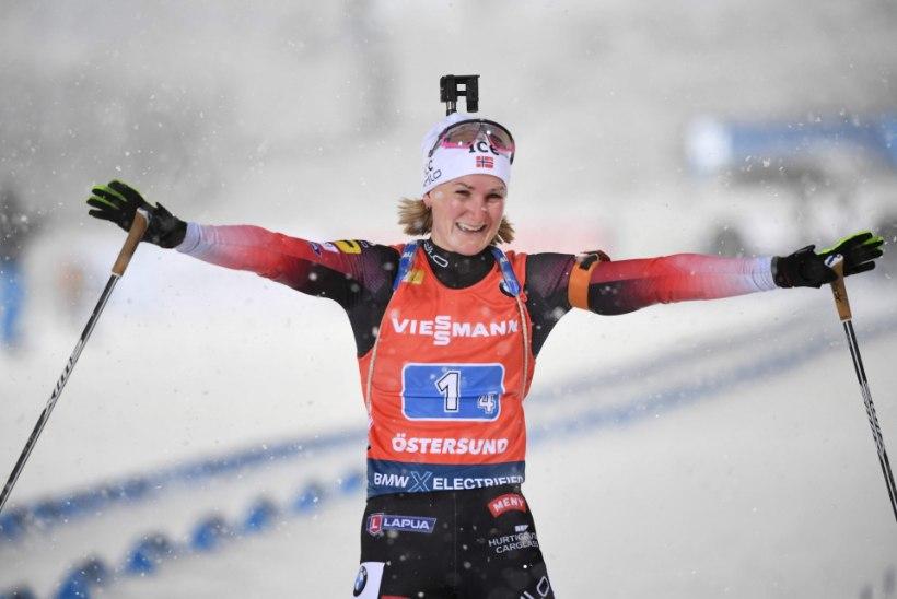 LASKESUUSATAMISE MM | Ülipõneva naiste teatesõidu võitis Norra, Eesti diskvalifitseeriti veidral põhjusel