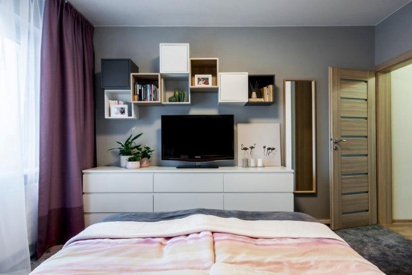 Põhilised sisustusapsud magamistoas: liiga väike mööbel, palju erinevaid värve ja mustreid ning kasutamata seinaruum