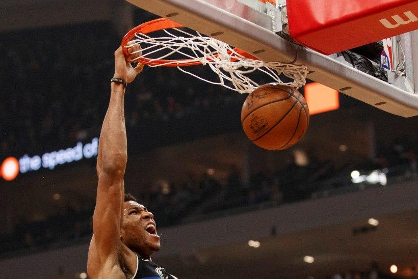 VIDEO | Antetokounmpo kordas legendaarse Wilt Chamberlaini saavutust, Rockets alistas põnevusmängus Lakersi