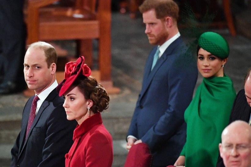 JÄISED SUHTED: prints William ja ta naine ei suutnud Harryt ja Meghanit kirikuski viisakalt kohelda
