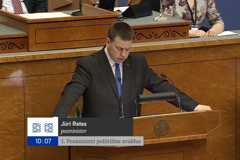 Miks ei näita ETV ja ETV2 otseülekannet Jüri Ratase poliitilisest avaldusest?