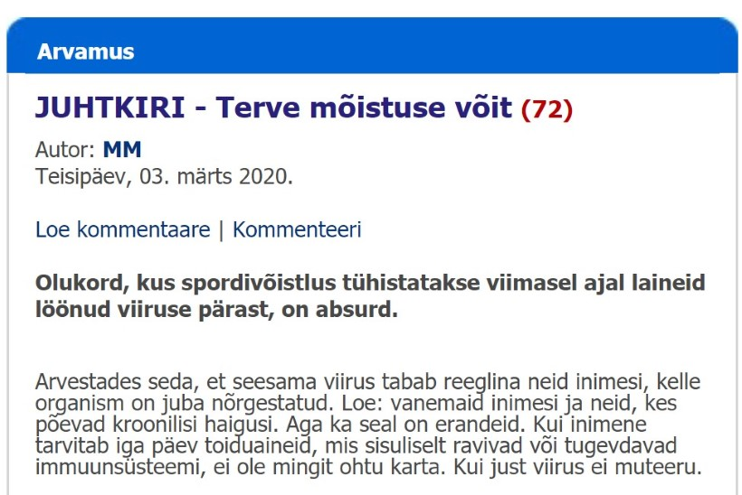 Koroonakannapööre: Saaremaa leht Meie Maa sööb oma sõnu erakordse küünilisusega