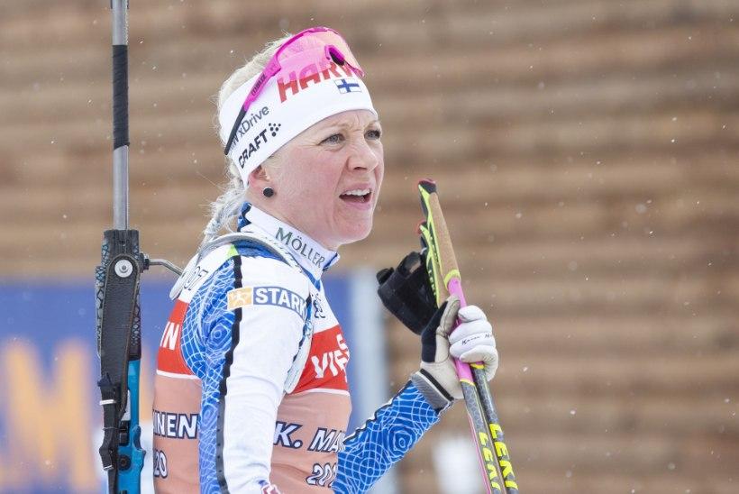 Soome laskesuusastaar Kaisa Mäkäräinen lõpetas karjääri
