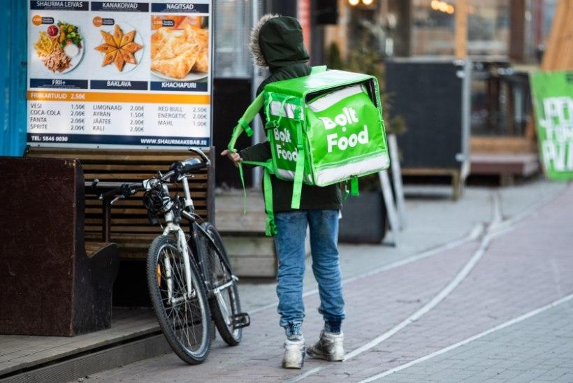 Bolt Food lisas toidupoest kauba koju tellimise võimaluse