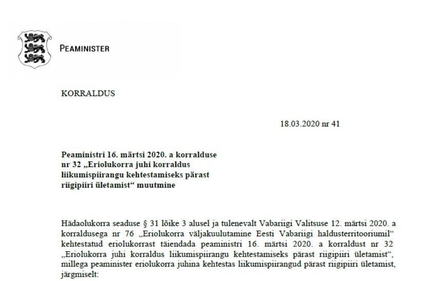 VALITSUSE KORRALDUS | Kord nädalas Soome vahet käivad inimesed ei pea karantiininõudest kinni pidama