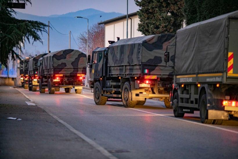 KREMATOORIUMIL NAPIB VÕIMSUST: Itaalia sõjavägi viib surnuid Bergamost riigi teistesse piirkondadesse