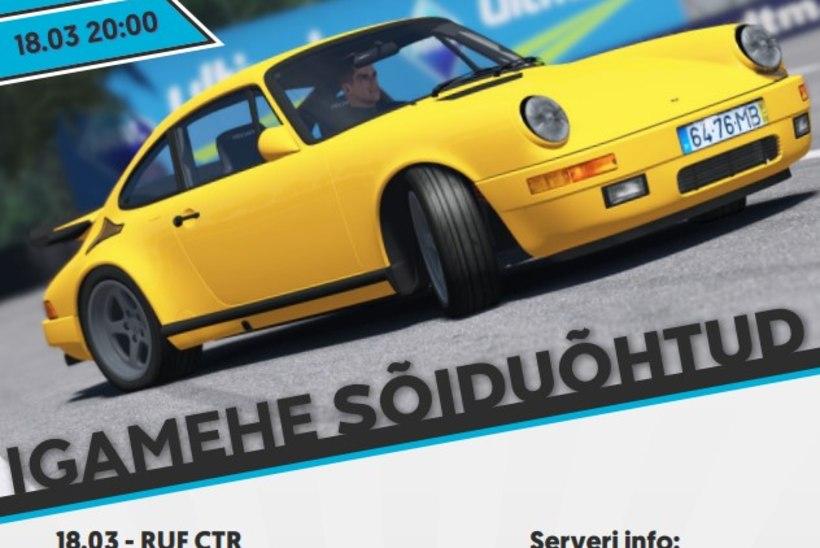 MURETSEMISEKS POLE PÕHJUST: Eesti e-autospordi võistlussarjad jätkuvad tavapäraselt