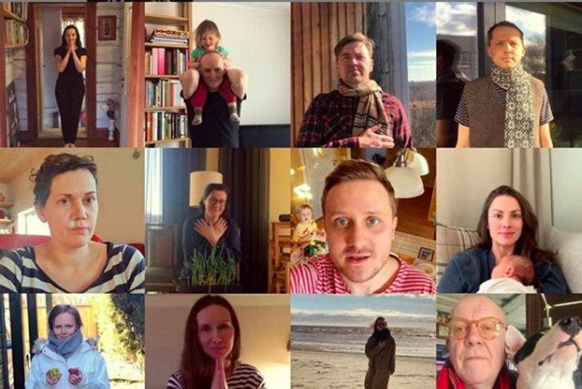 VIDEO |Linnateatri näitlejad tegid meditsiinitöötajatele suure kummarduse