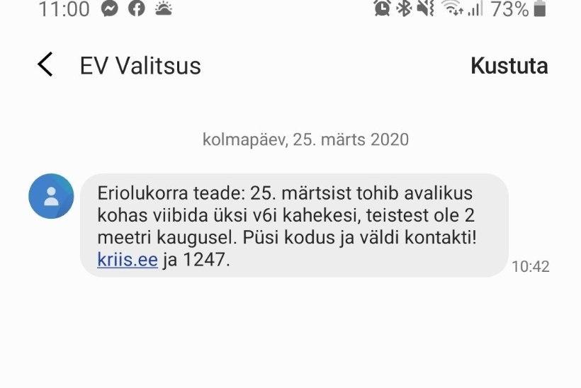 Kõik Eesti inimesed saavad valitsuselt e-kirja ja SMSi