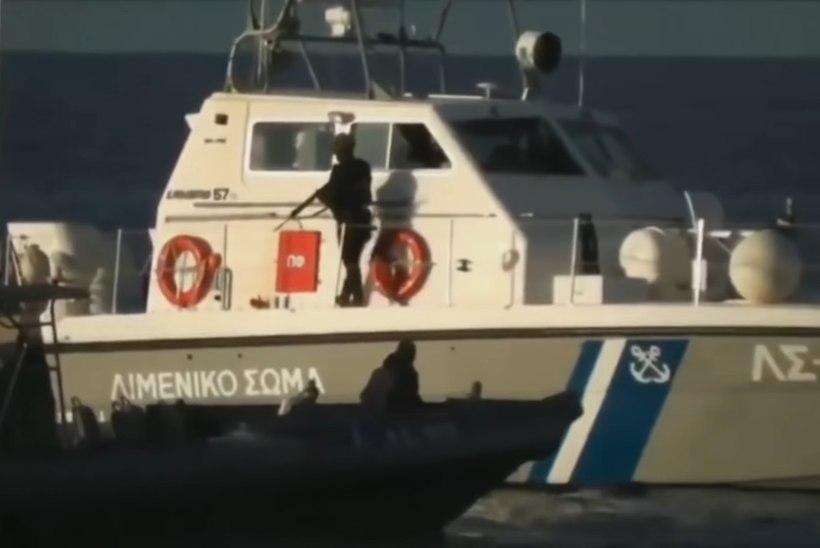 VIDEO   Kreeka rannavalve tulistas hoiatuslaske paadiga lähenevate migrantide suunas