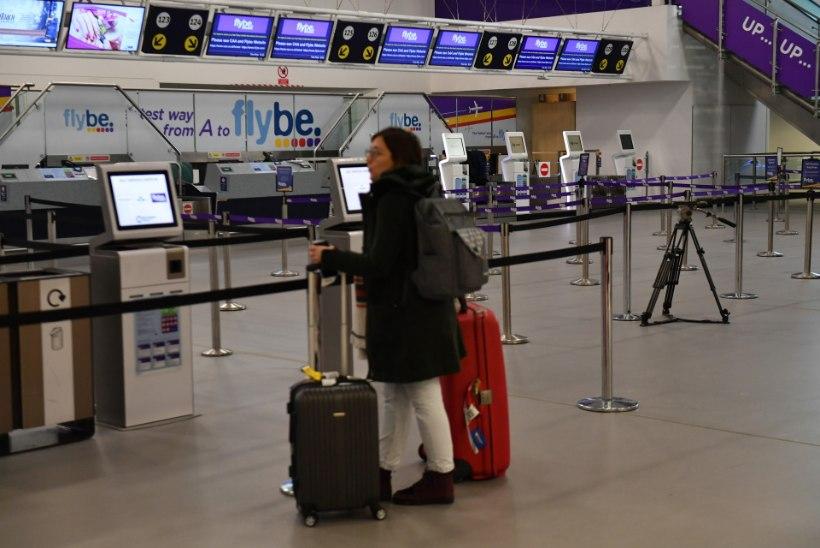 Suurbritannia lennufirma Flybe lõpetas keset ööd tegevuse