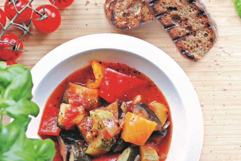 TOIT KAHEKS PÄEVAKS   Prantsuse köögiviljahautis ja värviline köögiviljapirukas