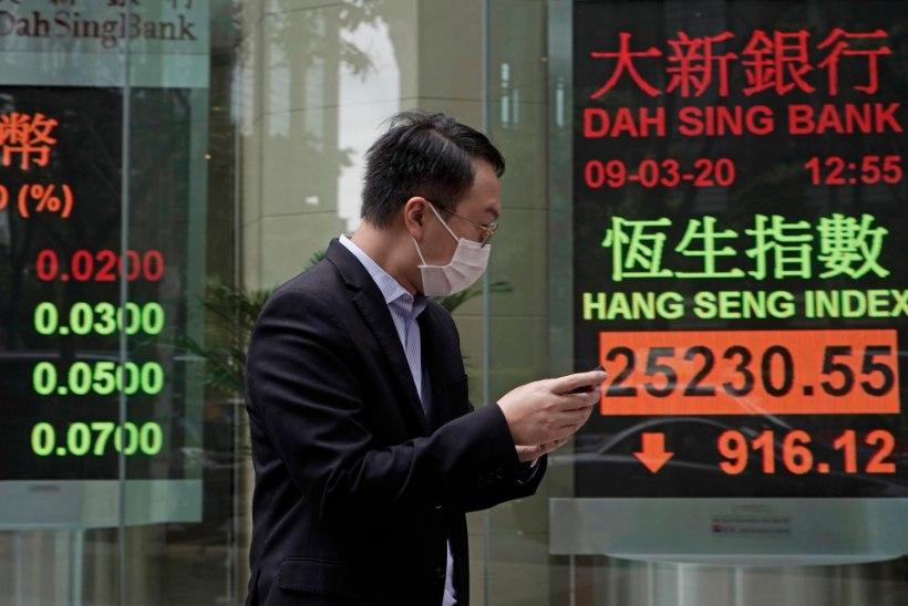 VALUS KOROONAHOOP: aktsiaturud on tugevas languses, ÜRO räägib kahjunumbritest, majandusekspert pensionifondidest