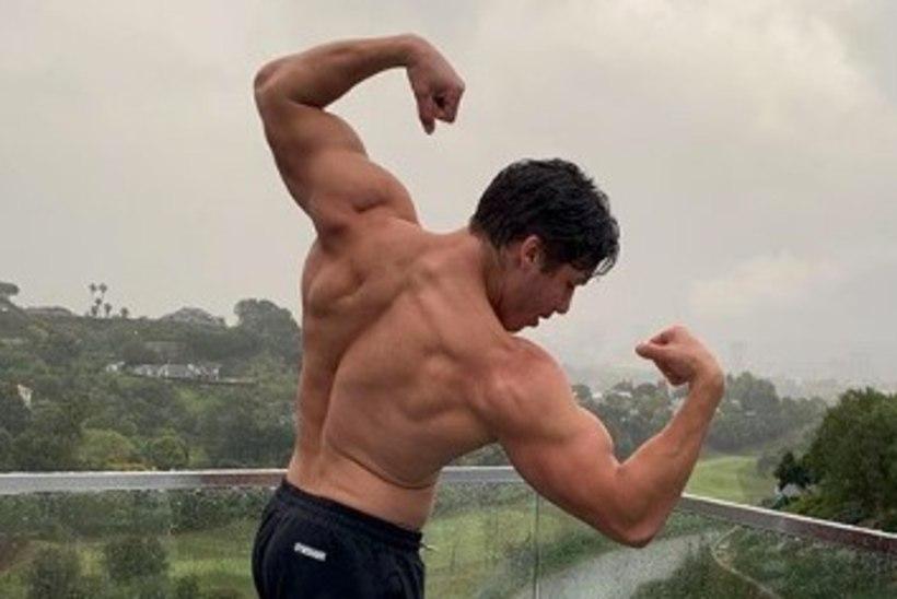 Millised musklid! Schwarzeneggeri sohipoeg võttis sisse isa kuulsa poosi