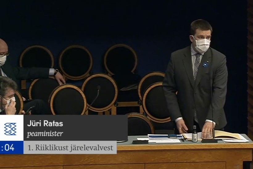 Peaminister Ratas infotunnis: valitsus arutab lisaks maskide saatmisele ka Itaalia ja Hispaania rahalist toetamist