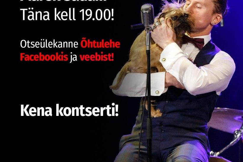 PILK PEALE! Õhtulehe Instagramis jagab oma tegemisi Marek Sadam, kes annab õhtul ka heategevusliku veebikontserdi