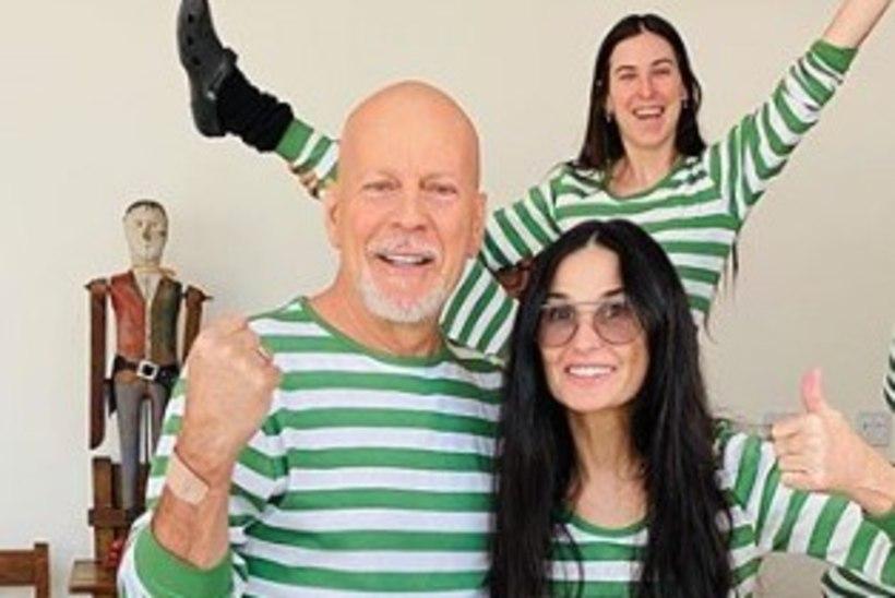 Demi ja Bruce'i tütar avaldas veidra põhjuse, miks ta isa pole karantiiniajal oma uue pere juures