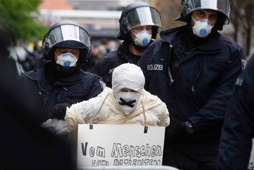 Saksamaal arreteeriti üle 100 liikumispiirangute vastu protesteerinud inimese