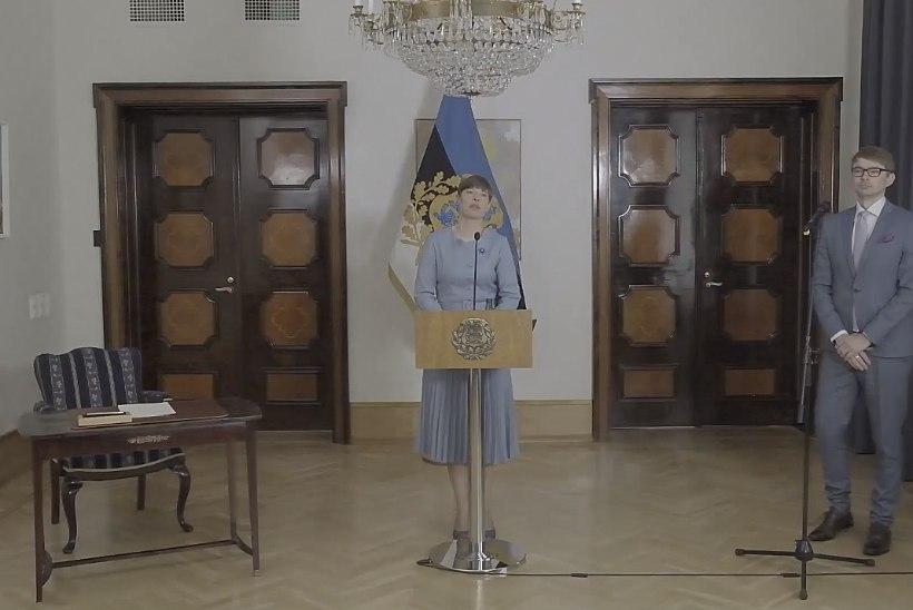 VIDEO | President Kersti Kaljulaid jättis seaduse välja kuulutamata: terviseandmete saamine on selles põhiseadusega vastuolus