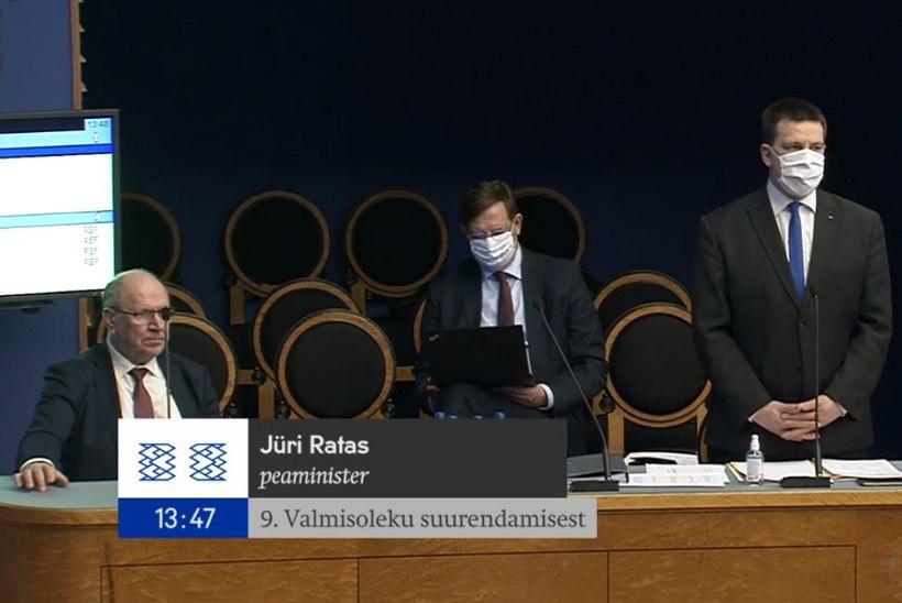 Riigikogu ees andsid aru Ratas, Aas ja Mart Helme