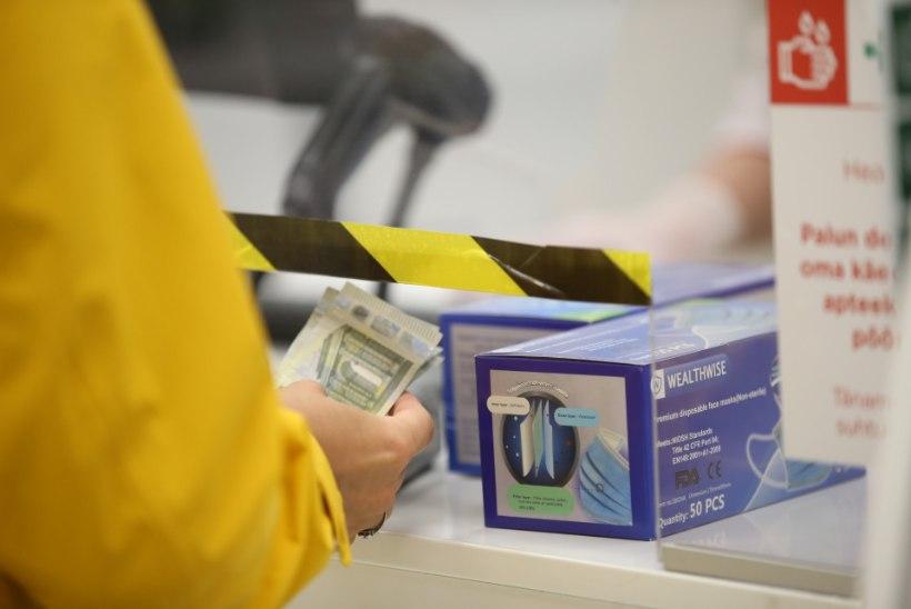 Kriisiga hinnad lakke: apteegid müüvad ihaldatud näomaske mitmekordse hinnaga