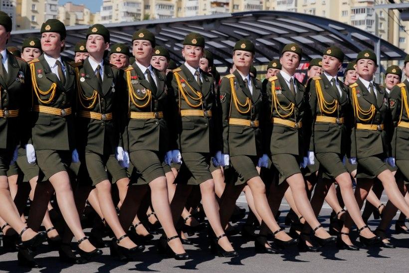 Minskis marsiti paraadil, Moskvas oli vaid salastatud saluut