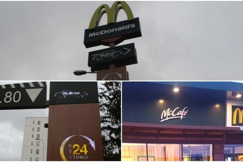 Võit keeleinspektsioonile! McDonald's muudab sildid eestikeelsemaks
