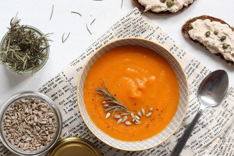 VALMIB 20 MINUTIGA: porgandi-kartulipüreesupp koos tuunikalakreemiga võileibadega