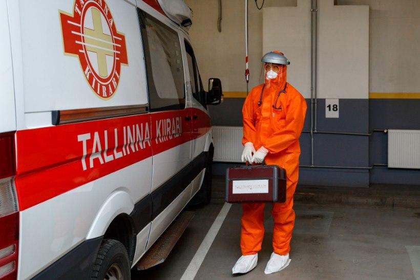GRAAFIK | Tallinnas nakatus koroonaviirusega kolm kiirabitöötajat
