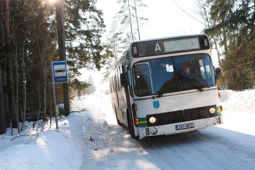 Eriolukorra aegne tasuta bussisõit Harju-, Rapla- ja Pärnumaal lõpeb