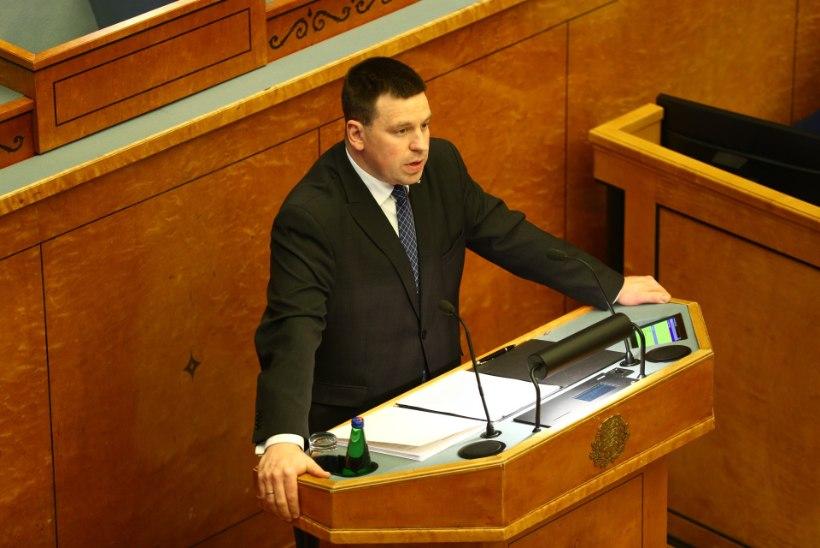 Peaminister Jüri Ratas riigikogus:  me ei olnud selliseks kriisiks valmis, eriolukorra kasutamine oli ainumõeldav samm
