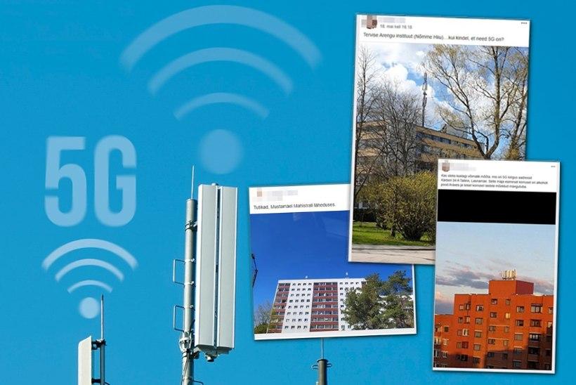 HIRMUL ON SUURED SILMAD: 5G mobiilside vastased pildistavad kõikvõimalikke antenne