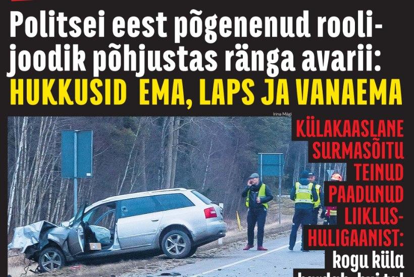 TAHTLIK ÜKSKÕIKSUS: Saaremaal kolm inimest surnuks sõitnud roolijoodikut süüdistatakse mõrvas