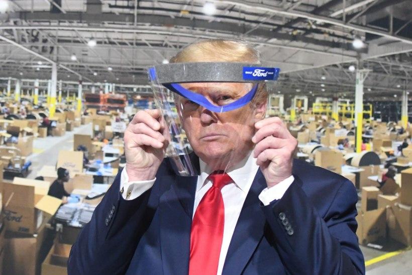 """""""NAGU TURTSAKAS LAPS."""" President Trump keeldus ajakirjanike ees näomaski kandmast"""