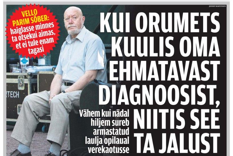 ÕL ARHIIV | Kui Vello Orumets kuulis enda diagnoosist, lõi see tal jalad alt. Ei läinud nädalatki, kui ta suri…